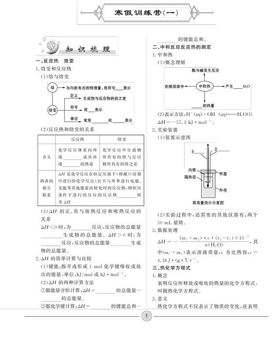 高中寒假生活高二、化学、人教版-临沂.jpg